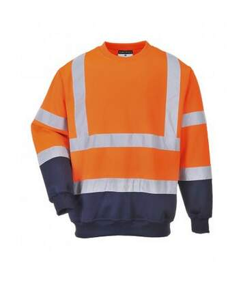 Portwest Mens Hi-Vis Two Tone Sweatshirt (Orange/Navy) - UTPC3112