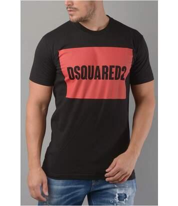 Tee shirt en coton à gros logo   -  Dsquared2 - Homme