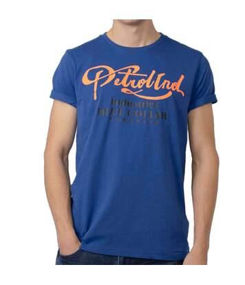 T-shirt Bleu Homme Petrol Industries Neck