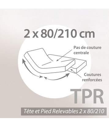 Protège matelas absorbant 2x80x210 Antonin spécial lit articulé TPR Grand bonnet 30cm