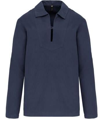 Vareuse en coton pour homme - K561 - bleu vintage denim
