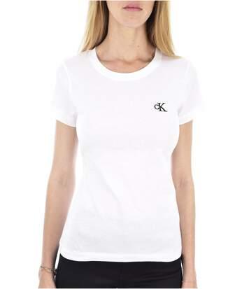 Tee shirt logo brodé EMBROIDERY  -  Femme - Calvin klein
