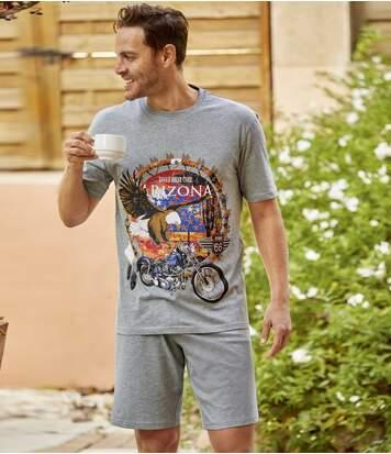 Piżama z szortami Eagle Biker