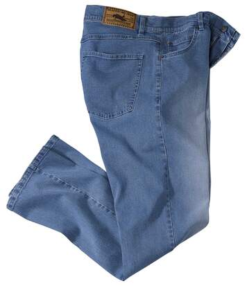 Blaue Stretch-Jeans