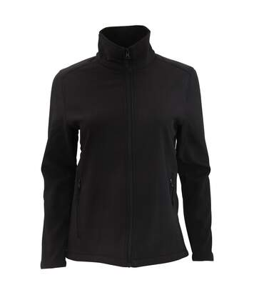SOLS Womens/Ladies Race Full Zip Water Repellent Softshell Jacket (Black) - UTPC2426