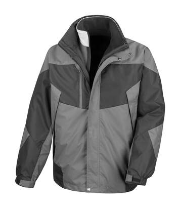 Result Mens 3-in-1 Aspen Performance Jacket (Waterproof, Windproof & Breathable) (Grey / Black) - UTRW3219