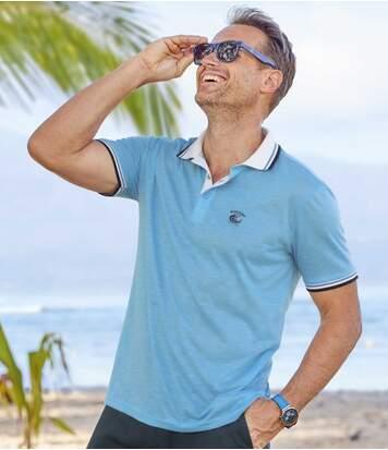 Sada 2 polo triček Summer Beach zžíhaného žerzeje