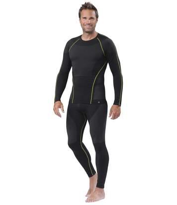 Men's Black Thermal High-Tech Stretch Leggings
