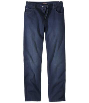 Blauwe regular stretch jeans