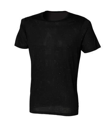 Skinni Fit Mens Fleck T-Shirt (Black) - UTRW1393