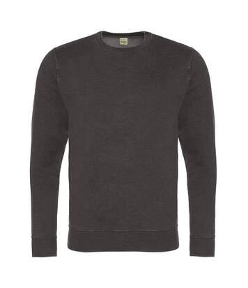 AWDis Hoods Mens Long Sleeve Washed Look Sweatshirt (Washed Royal Blue) - UTRW5369