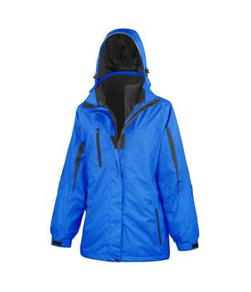 Result Womens/Ladies 3 In 1 Softshell Journey Jacket With Hood (Royal / Black) - UTRW3693