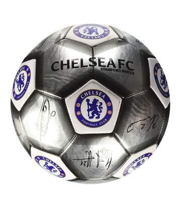 Chelsea Fc - Ballon De Football Avec Signatures- Enfant (Argenté) - UTSG17605