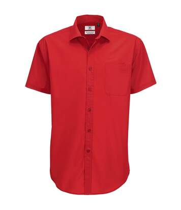 B&C Mens Smart Short Sleeve Shirt / Mens Shirts (Deep Red) - UTBC112