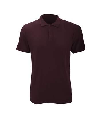 Anvil Mens Fashion Double Pique Plain Polo Shirt (210 GSM) (Maroon) - UTRW2535