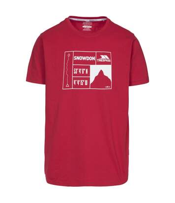 Trespass - T-Shirt Snowdon - Homme (Rouge) - UTTP4301