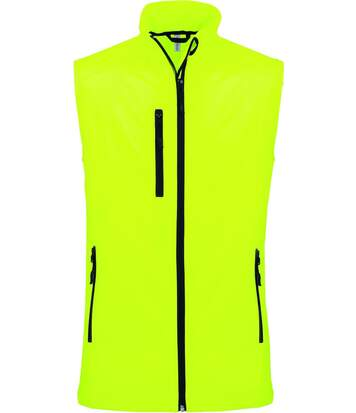 Bodywarmer softshell - gilet sans manches - K403 - jaune fluo - Homme