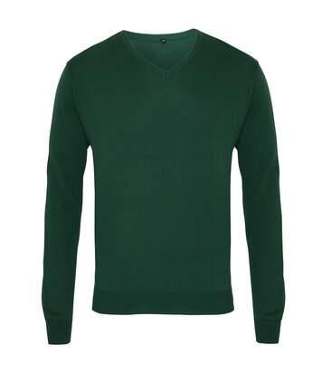 Premier Mens V-Neck Knitted Sweater (Charcoal) - UTRW1131