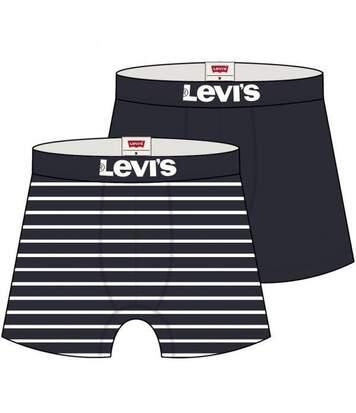 LEVI'S Lot de 2 Boxers Homme Coton VINTAGSTRIPEN Marine