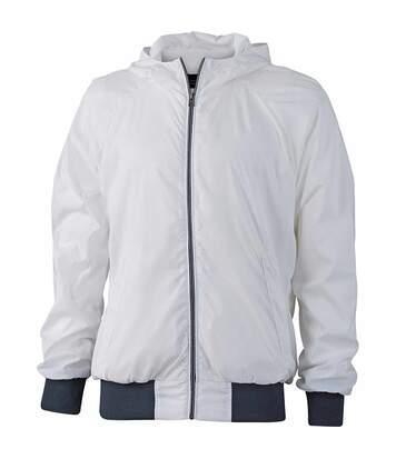 Veste de sport à capuche homme - JN1108 - blanc
