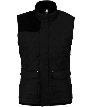 Bodywarmer veste sans manches matelassée - K6125 - noir - femme