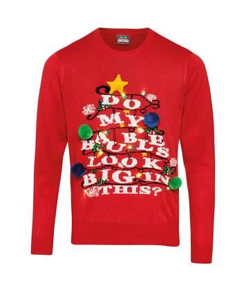 Christmas Shop - Pull De Noël 'Do My Baubles Look Big In This?' - Mixte (Rouge) - UTRW5789