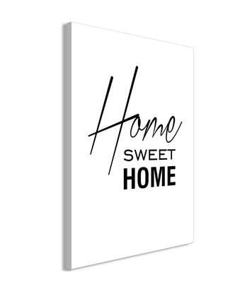Paris Prix - Tableau Imprimé black & White : Home Sweet Home 80 X 120 Cm