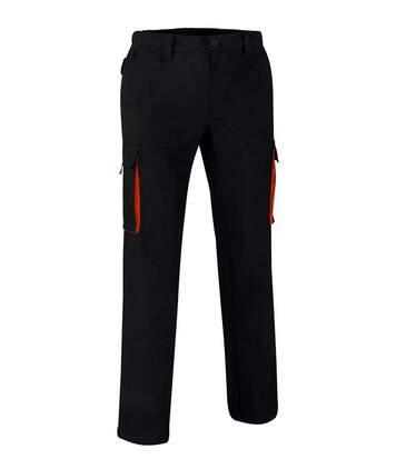 Pantalon de travail homme - THUNDER - noir et orange