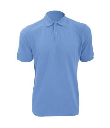 Russell Mens Ripple Collar & Cuff Short Sleeve Polo Shirt (Sky Blue) - UTBC572