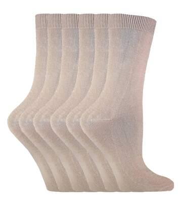 6 Pk Ladies Plain Coloured Cotton Ankle Socks