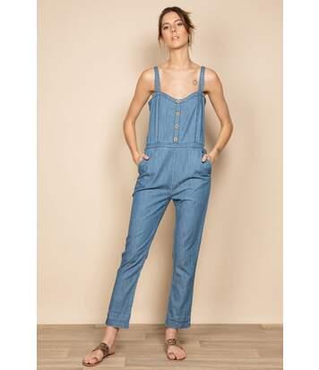 Combinaison effet jeans CLOTHILDE Blue Denim