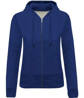 Sweat-shirt coton bio zippé capuche