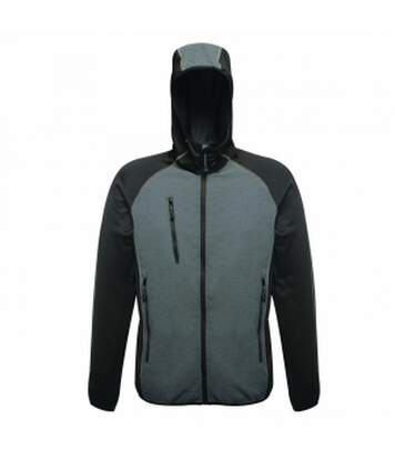 Regatta Professional Mens Lumen Reflective Stretch Softshell Jacket (Seal Grey/Black) - UTRG3238