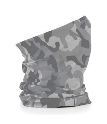 Echarpe tubulaire - tour de cou adulte - B900 - gris clair camo