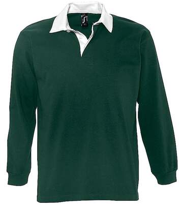 Polo rugby manches longues HOMME - 11313 - vert