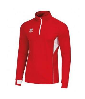 Errea - Haut De Sport Zippé - Mixte (Rouge / blanc) - UTPC3272