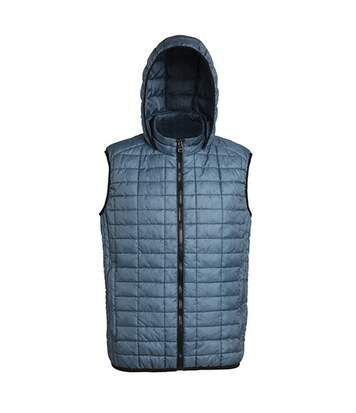 2786 Mens Honeycomb Zip Up Hooded Gilet/Bodywarmer (Steel) - UTRW5261