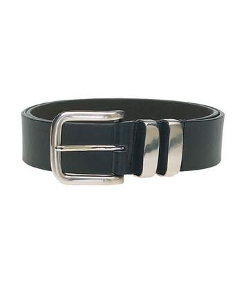 Duke Mens Noah D555 Double Metal Loop Belt (Black) - UTDC117