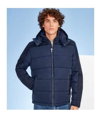 SOLS Mens Reggie Contrast Padded Jacket (Black) - UTPC3288
