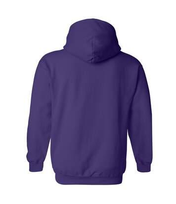 Gildan Heavy Blend Adult Unisex Hooded Sweatshirt / Hoodie (Purple) - UTBC468