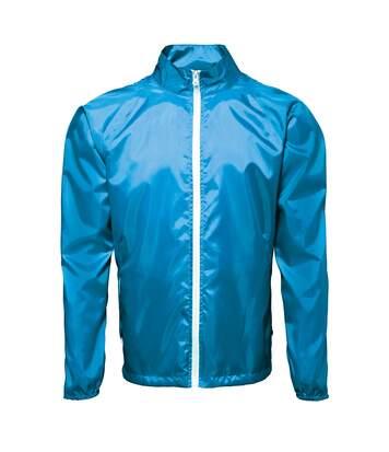 2786 Mens Contrast Lightweight Windcheater Shower Proof Jacket (Navy/ White) - UTRW2501