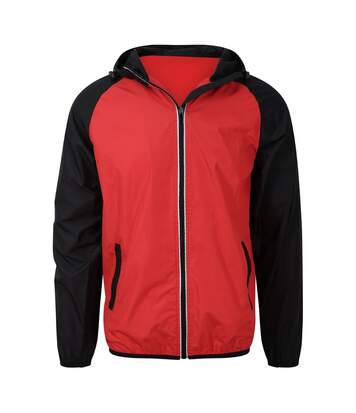 AWDis Just Cool Mens Contrast Windshield Jacket (Fire Red/Jet Black) - UTPC3581