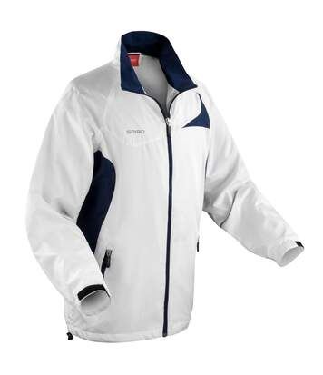 Spiro Mens Micro-Lite Performance Sports Jacket (Water Repellent, Wind Resistant & Breathable) (White/Red) - UTRW1474