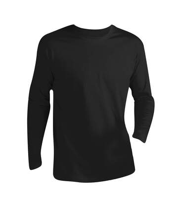 SOLS Mens Monarch Long Sleeve T-Shirt (Deep Black) - UTPC313