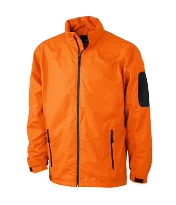 Veste coupe-vent - Homme - JN1041 - orange et carbone