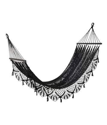 Paris Prix - Hamac Design En Crochet mexico 220cm Noir