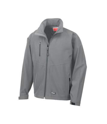 Result Mens 2 Layer Base Softshell Breathable Wind Resistant Jacket (Silver Grey) - UTBC864