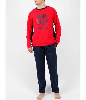 Tenue d'intérieur pyjama pantalon Bandas Força Barça rouge Admas