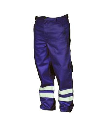 Yoko Mens Hi Vis Reflective Working Trousers (Pack of 2) (Navy Blue) - UTBC4403