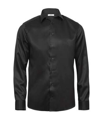Tee Jays Mens Luxury Comfort Fit Long Sleeve Oxford Shirt (White/Blue) - UTPC3477